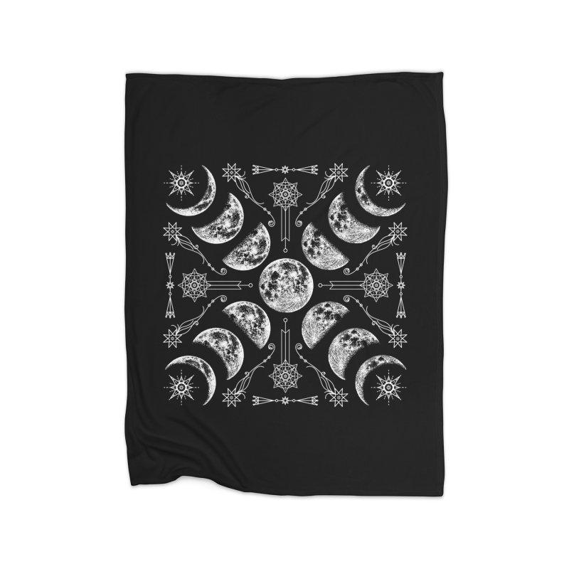 Lunar Chaos Home Fleece Blanket Blanket by Nikol King's Artist Shop