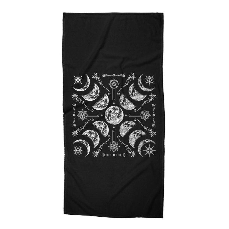 Lunar Chaos Accessories Beach Towel by nikolking's Artist Shop