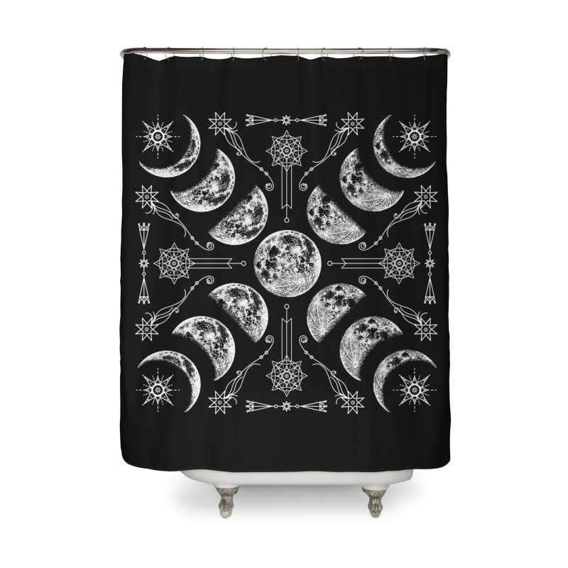 Lunar Chaos Home Shower Curtain by Nikol King's Artist Shop