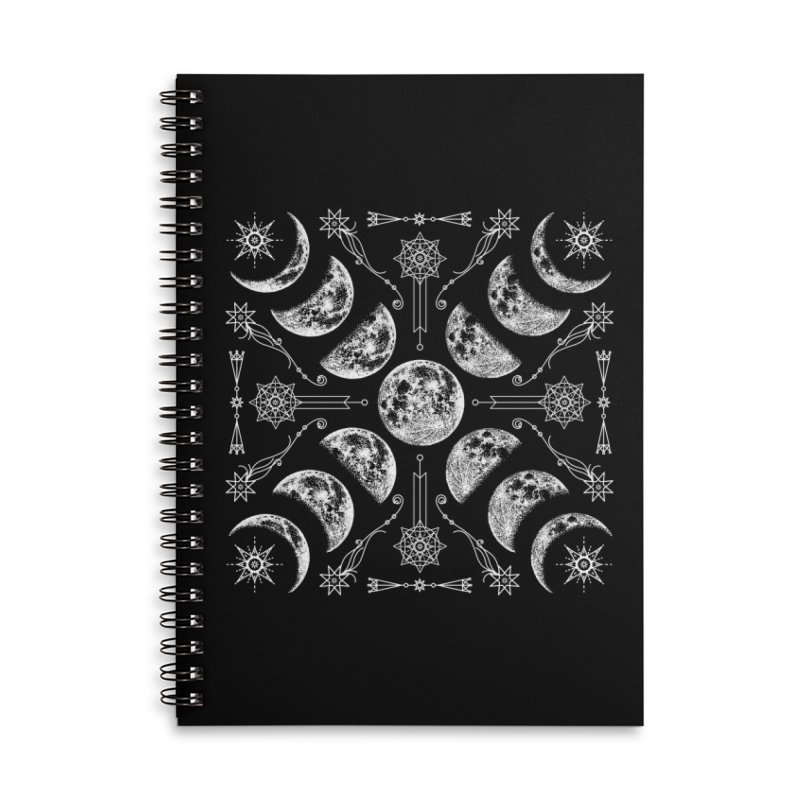 Lunar Chaos Accessories Lined Spiral Notebook by Nikol King's Artist Shop
