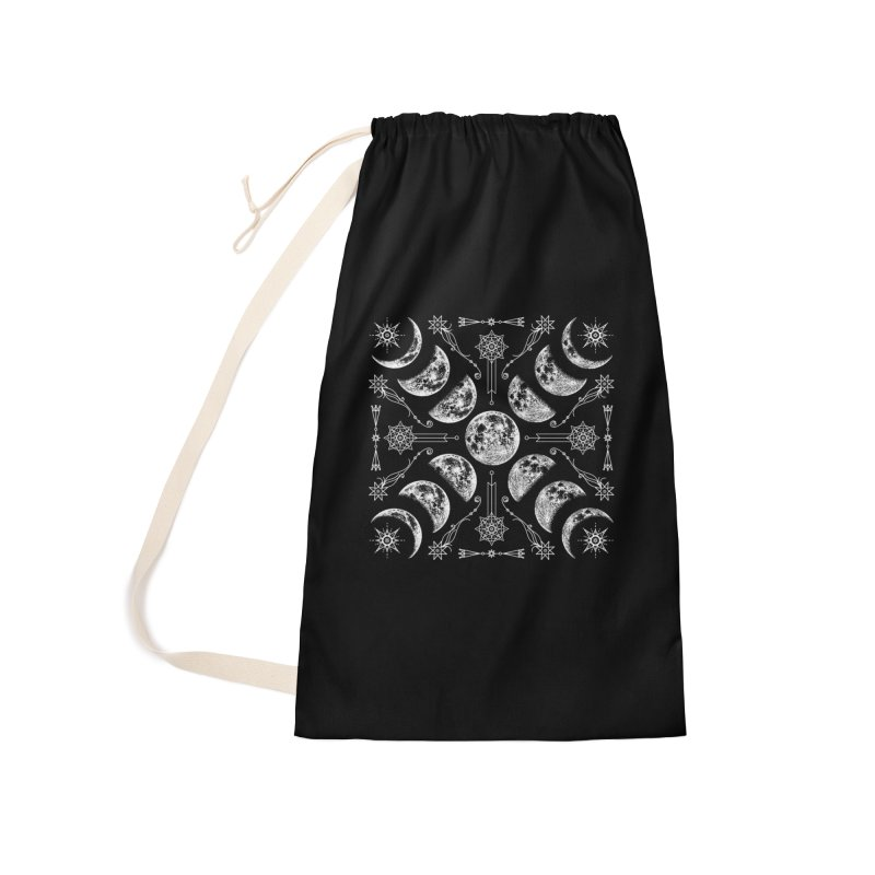 Lunar Chaos Accessories Laundry Bag Bag by Nikol King's Artist Shop