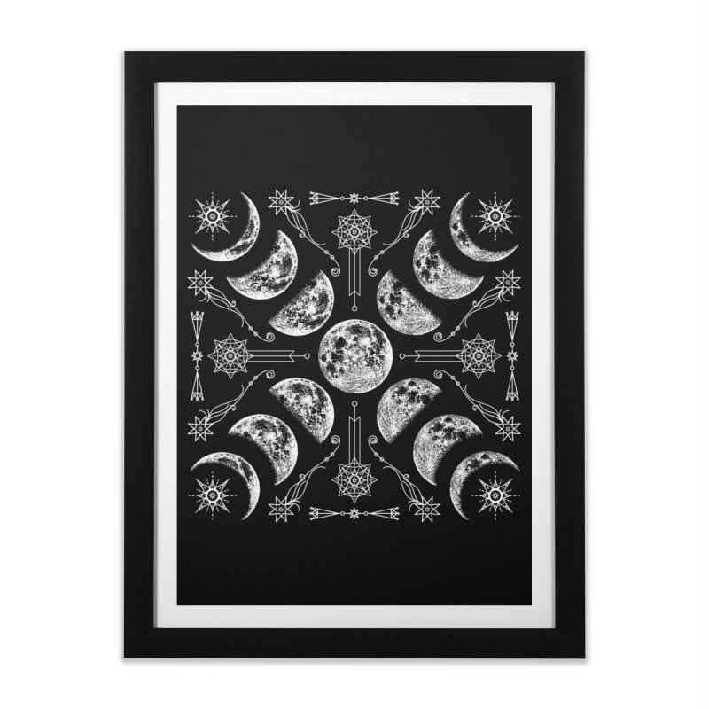 Lunar Chaos Home Framed Fine Art Print by Niko L King's Artist Shop