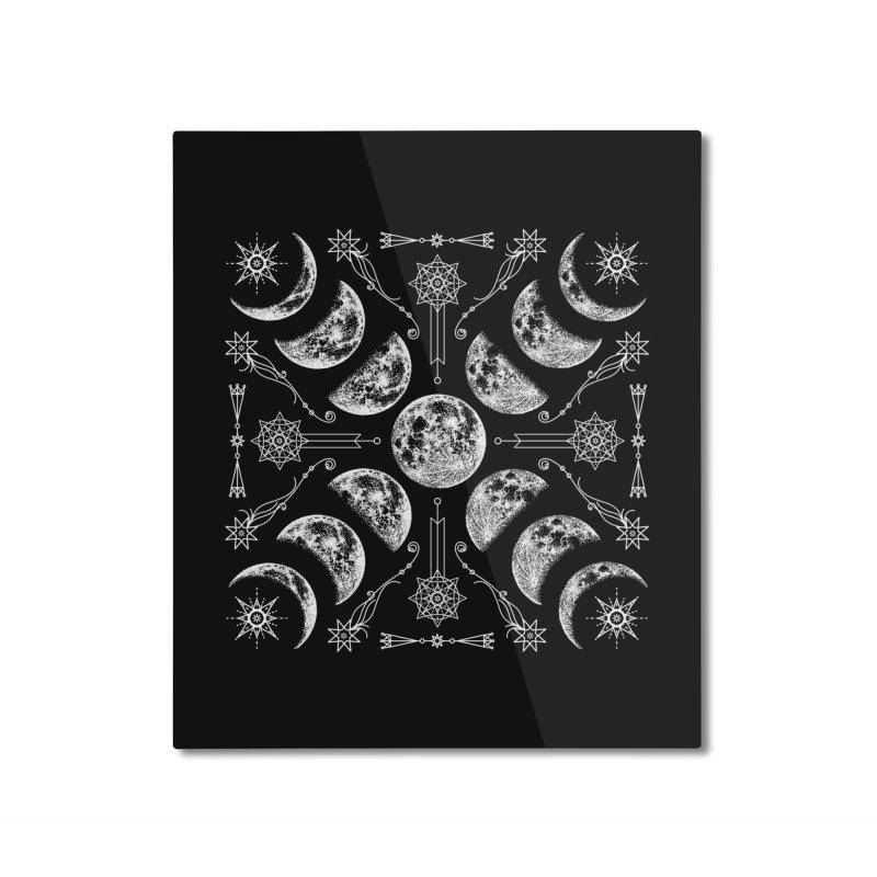 Lunar Chaos Home Mounted Aluminum Print by Nikol King's Artist Shop