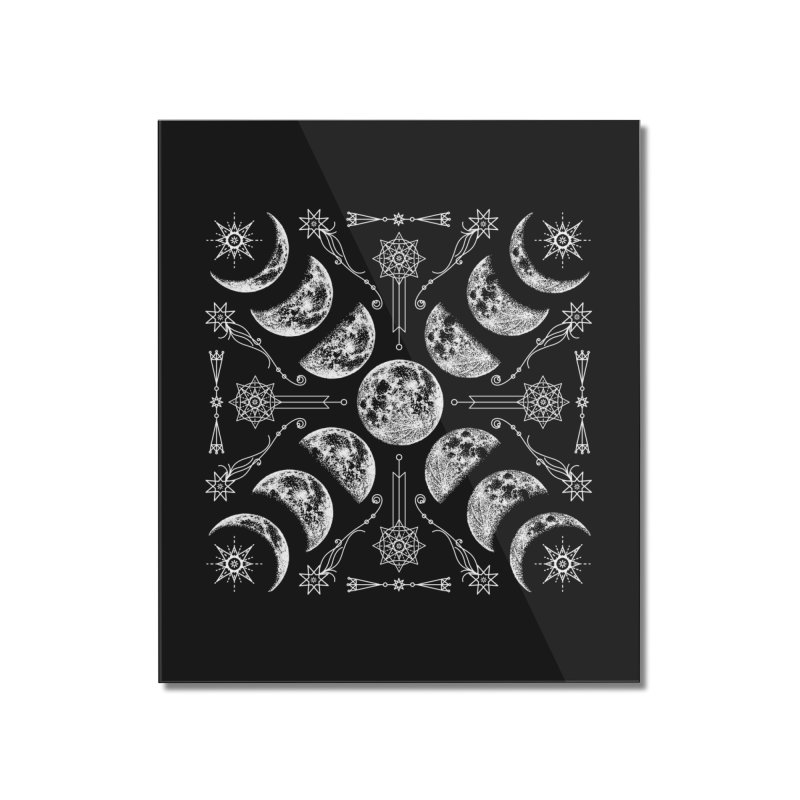 Lunar Chaos Home Mounted Acrylic Print by Nikol King's Artist Shop
