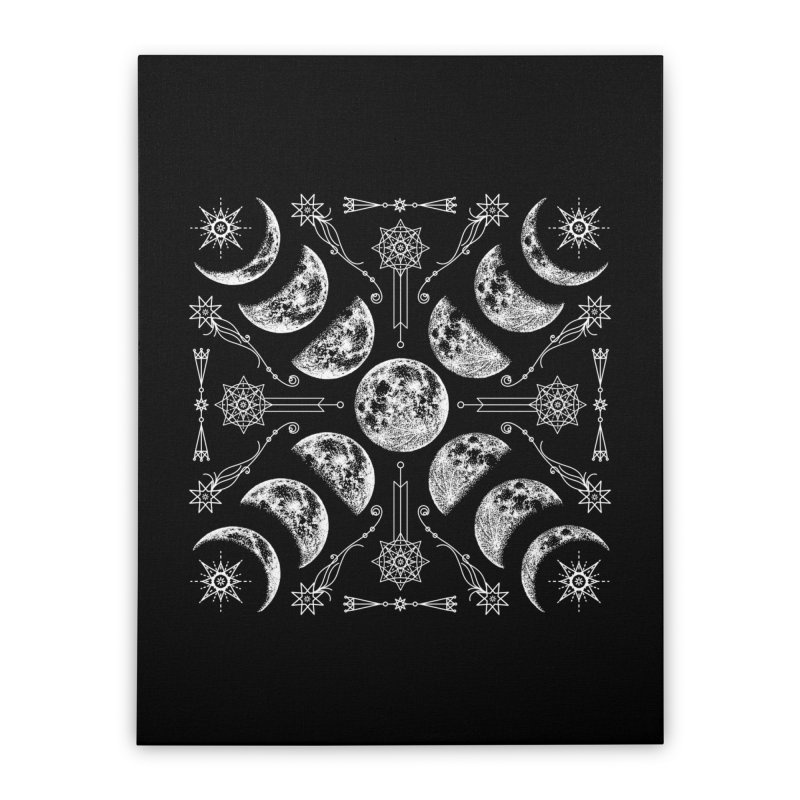 Lunar Chaos Home Stretched Canvas by nikolking's Artist Shop