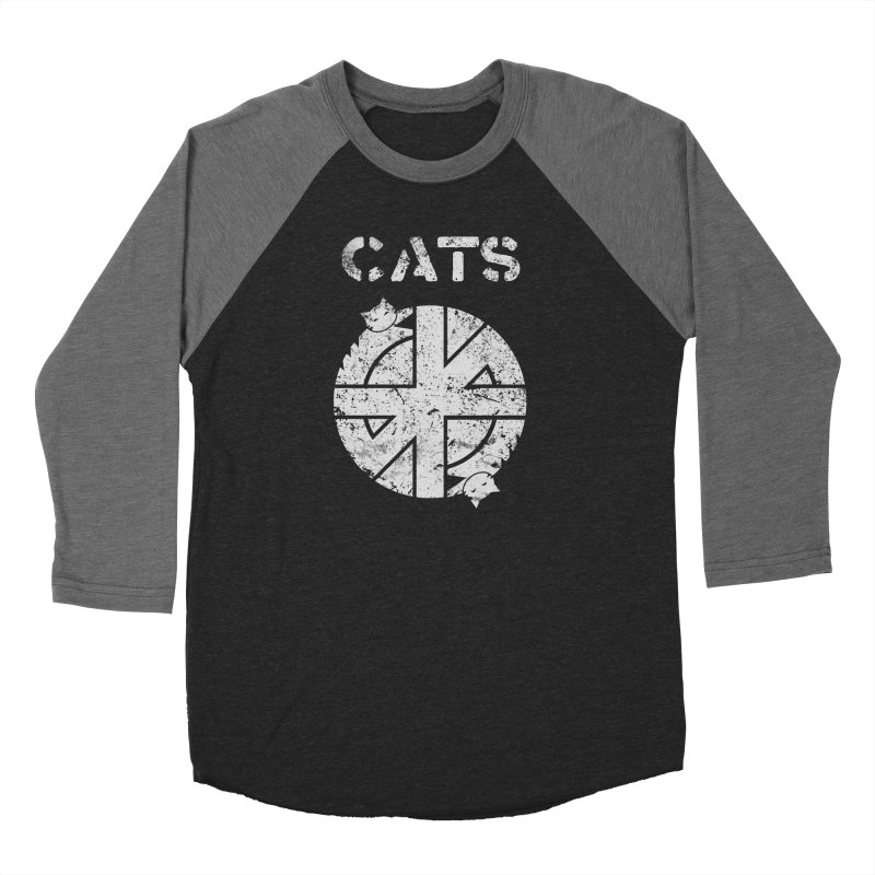 CRASS CATS Men's Baseball Triblend Longsleeve T-Shirt by Nikol King's Artist Shop
