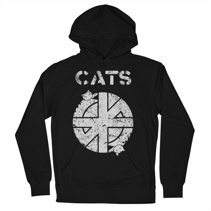 CRASS CATS Women's French Terry Pullover Hoody by Niko L King's Artist Shop