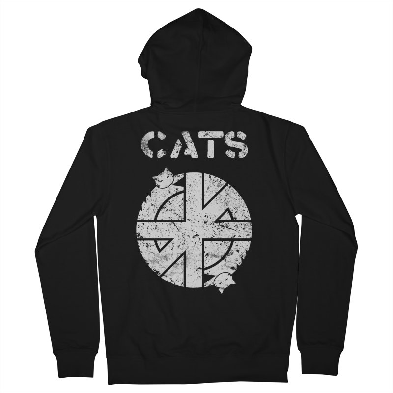CRASS CATS Men's French Terry Zip-Up Hoody by Nikol King's Artist Shop