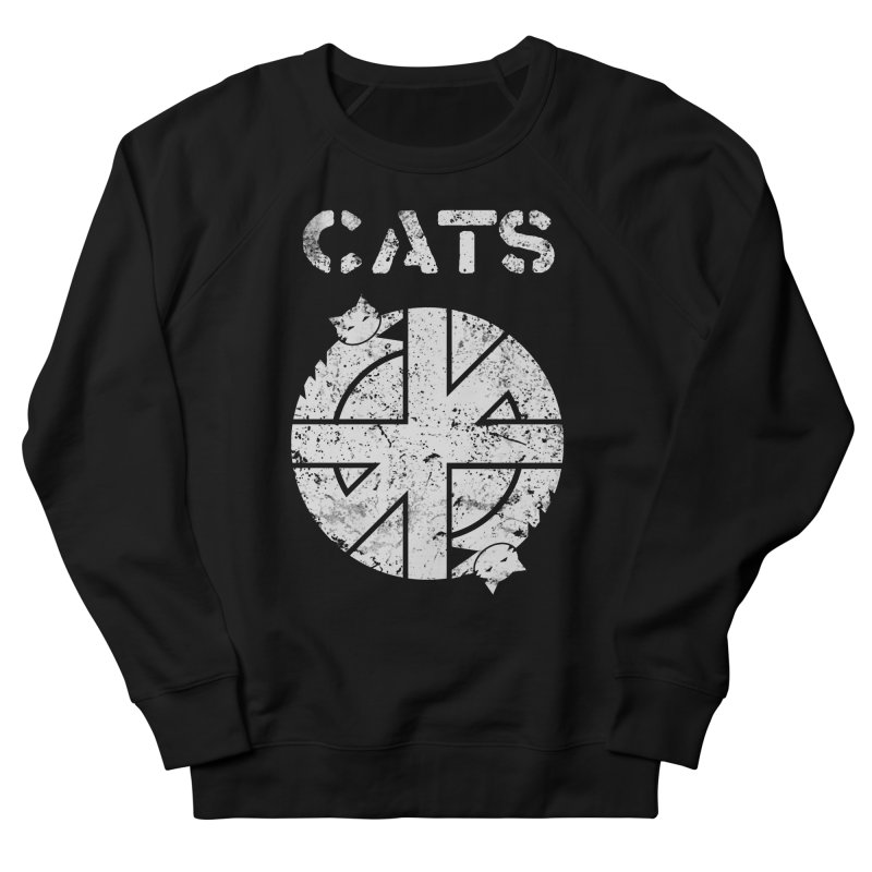 CRASS CATS Women's French Terry Sweatshirt by Nikol King's Artist Shop