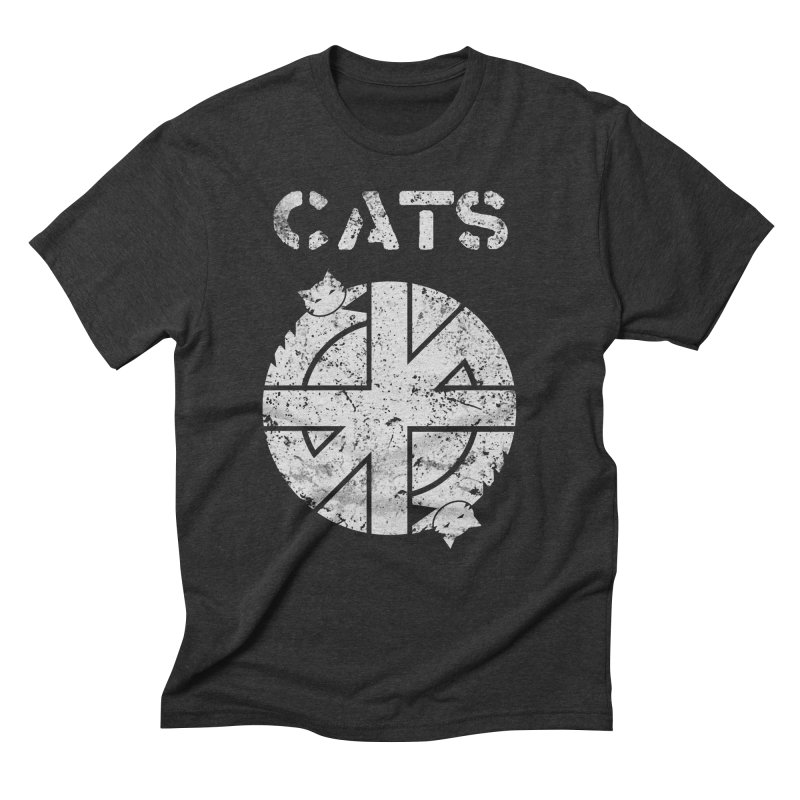 CRASS CATS Men's Triblend T-Shirt by Nikol King's Artist Shop