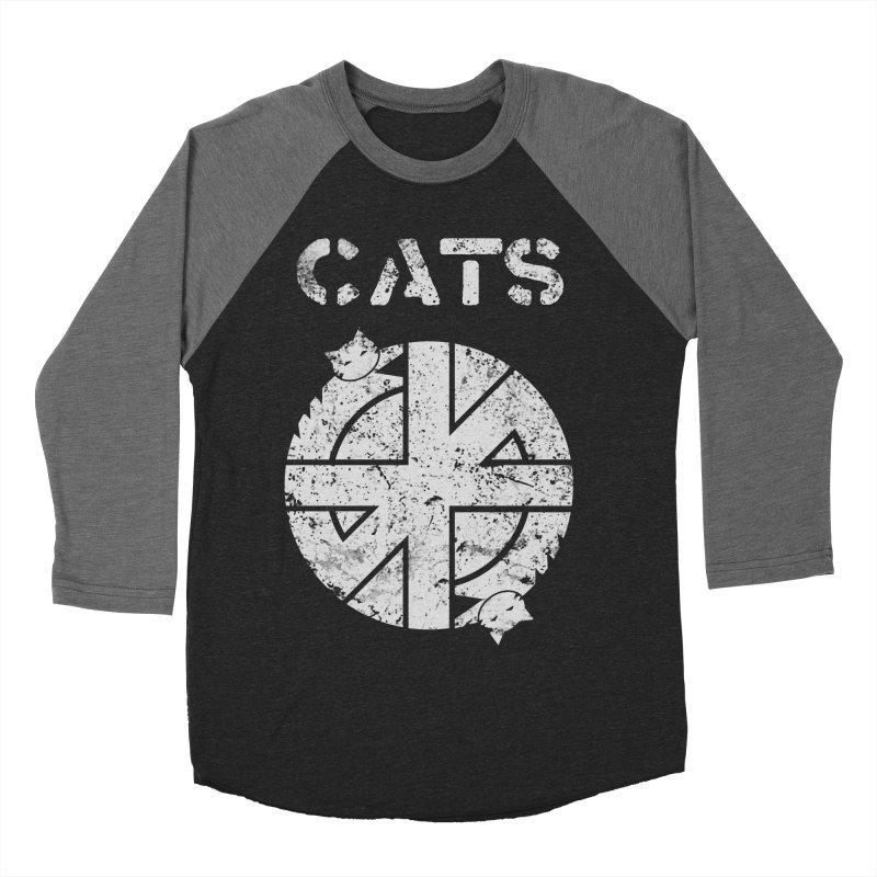 CRASS CATS Women's Baseball Triblend Longsleeve T-Shirt by Nikol King's Artist Shop