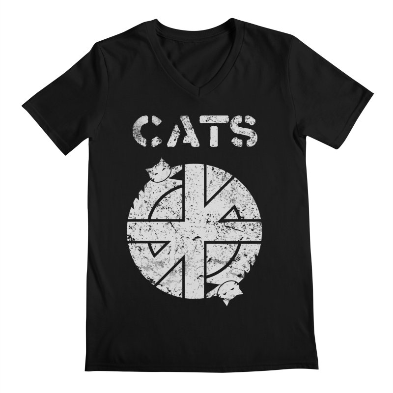 CRASS CATS Men's V-Neck by nikolking's Artist Shop