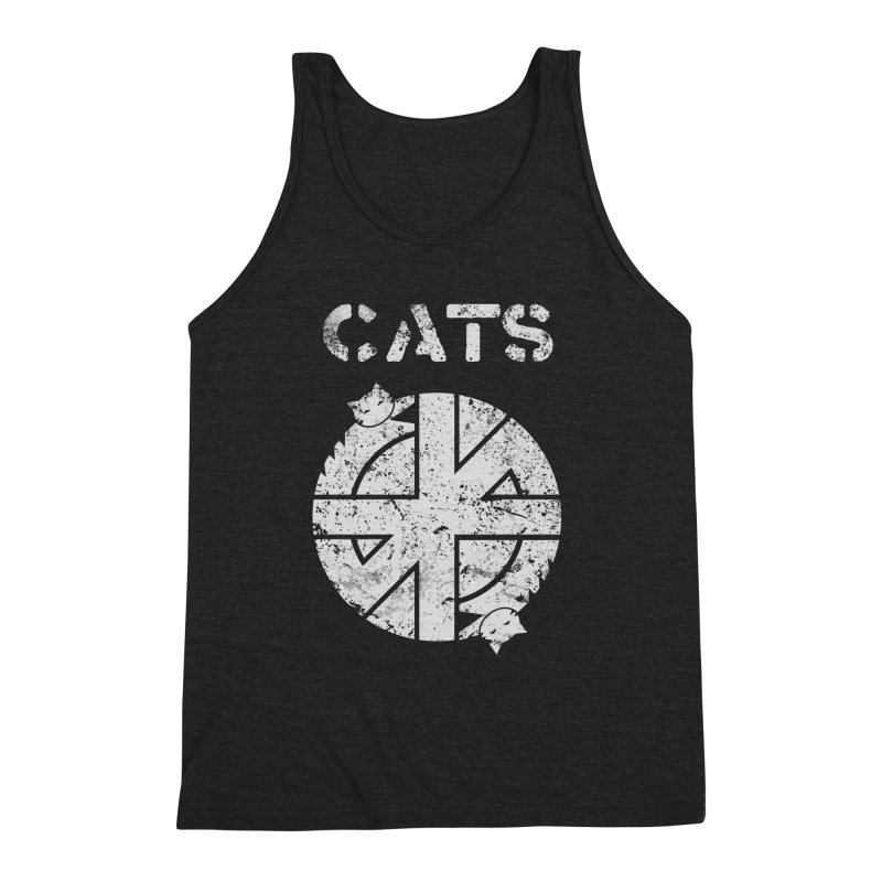 CRASS CATS Men's Triblend Tank by Nikol King's Artist Shop