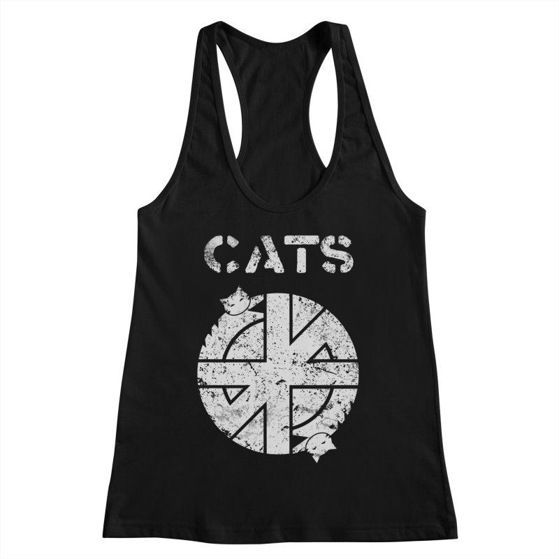 CRASS CATS Women's Racerback Tank by Nikol King's Artist Shop