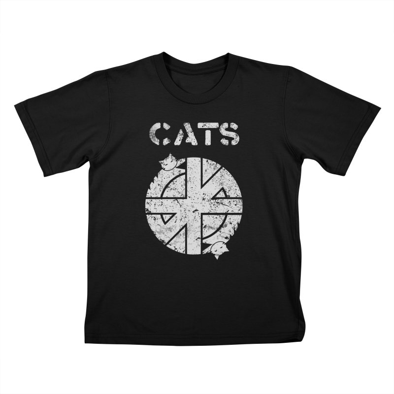 CRASS CATS Kids T-Shirt by Nikol King's Artist Shop