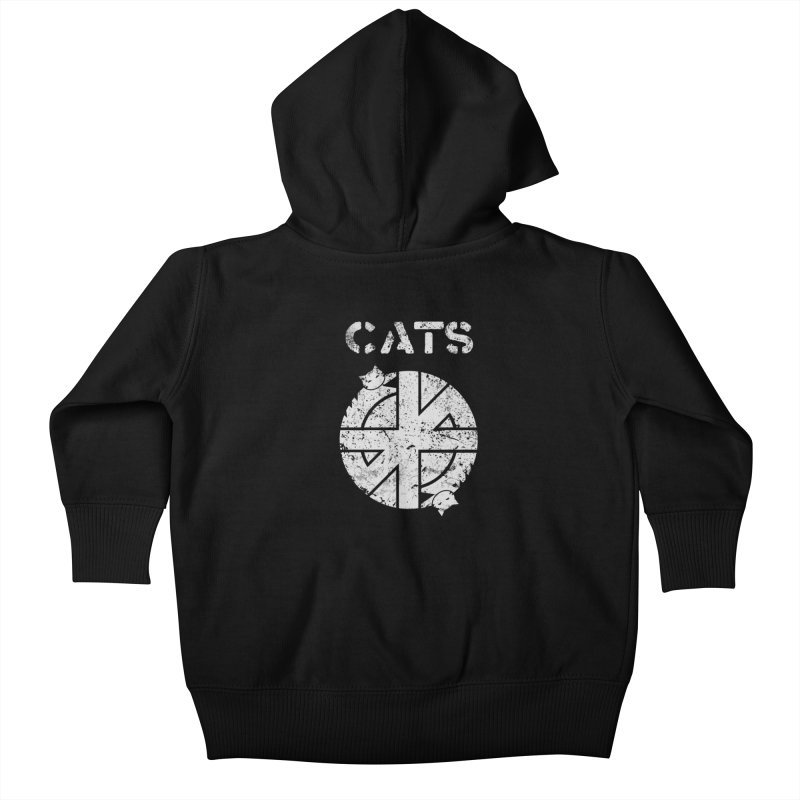 CRASS CATS Kids Baby Zip-Up Hoody by Nikol King's Artist Shop