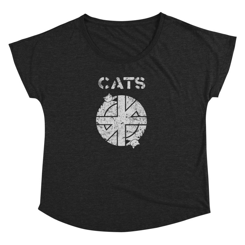CRASS CATS Women's Dolman Scoop Neck by nikolking's Artist Shop