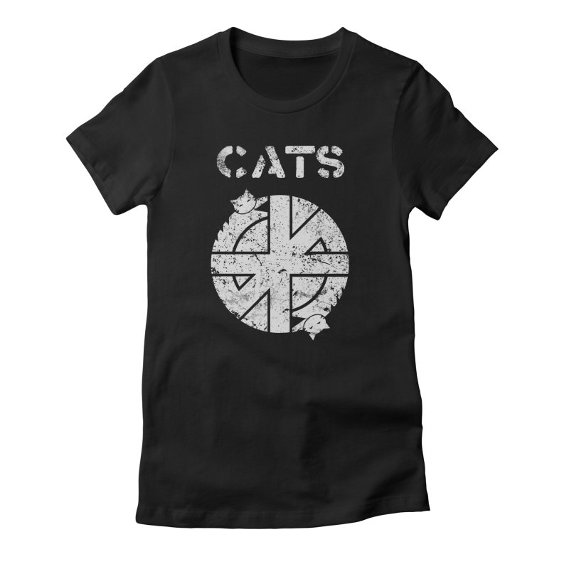 CRASS CATS Women's Fitted T-Shirt by Nikol King's Artist Shop