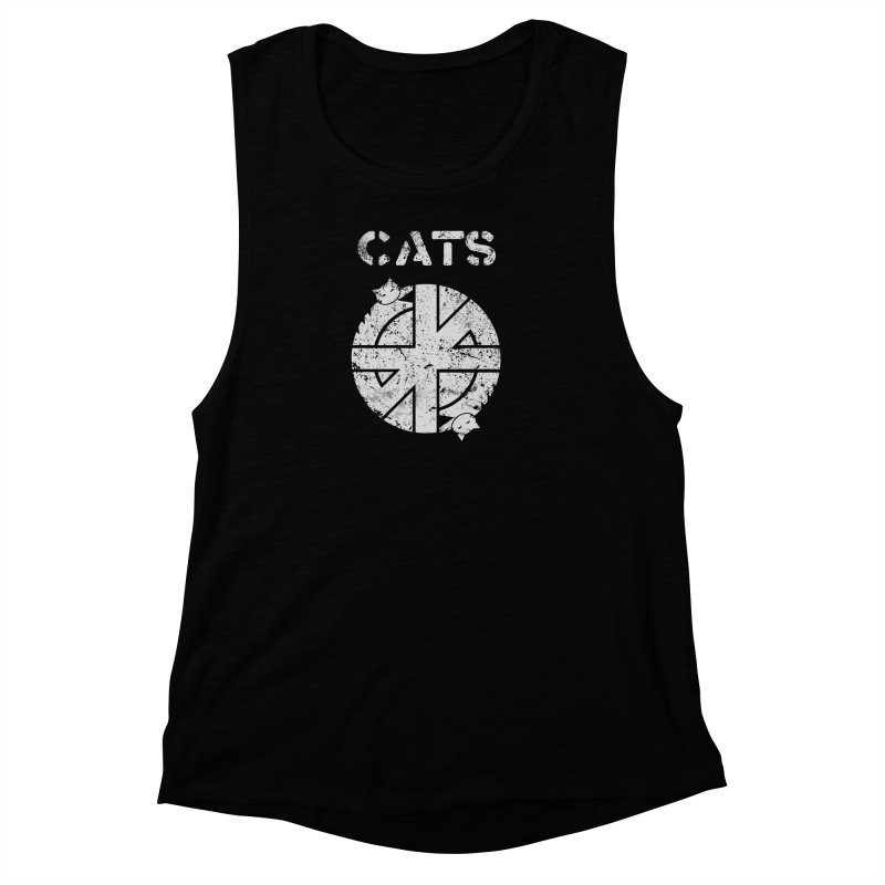 CRASS CATS Women's Muscle Tank by Nikol King's Artist Shop