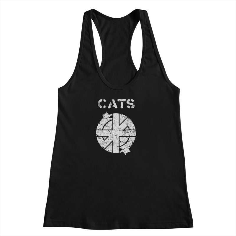 CRASS CATS Women's Racerback Tank by Nikol King's Artist Shop