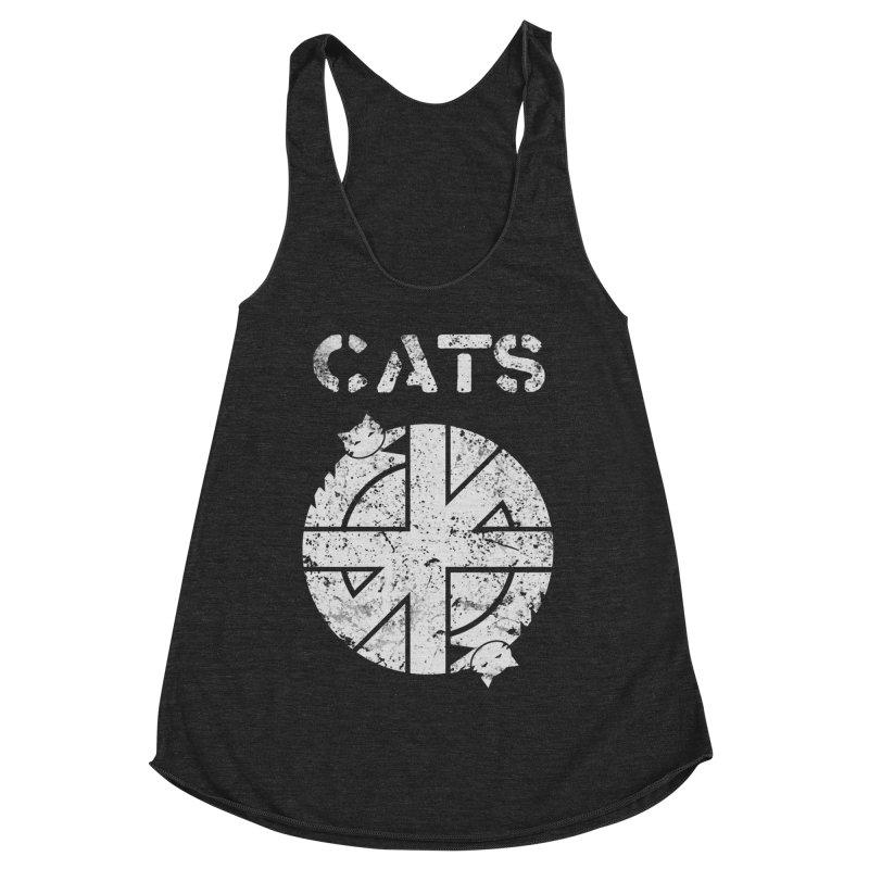 CRASS CATS Women's Racerback Triblend Tank by Nikol King's Artist Shop