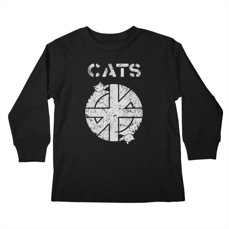 CRASS CATS Kids Longsleeve T-Shirt by Nikol King's Artist Shop