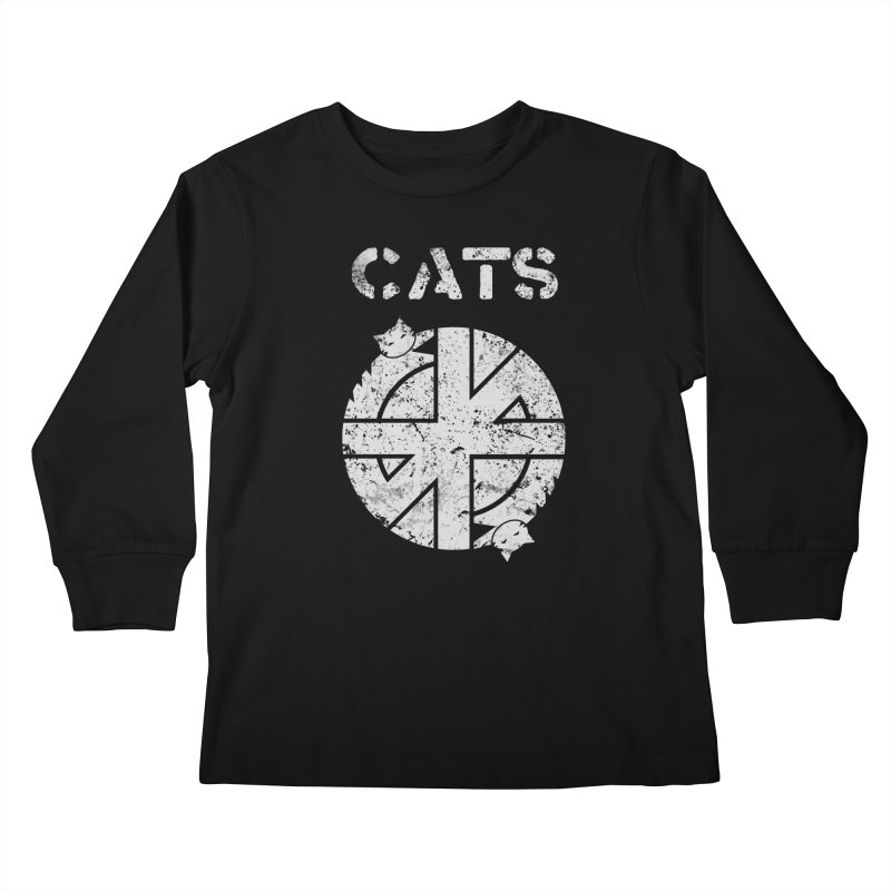 CRASS CATS Kids Longsleeve T-Shirt by Niko L King's Artist Shop