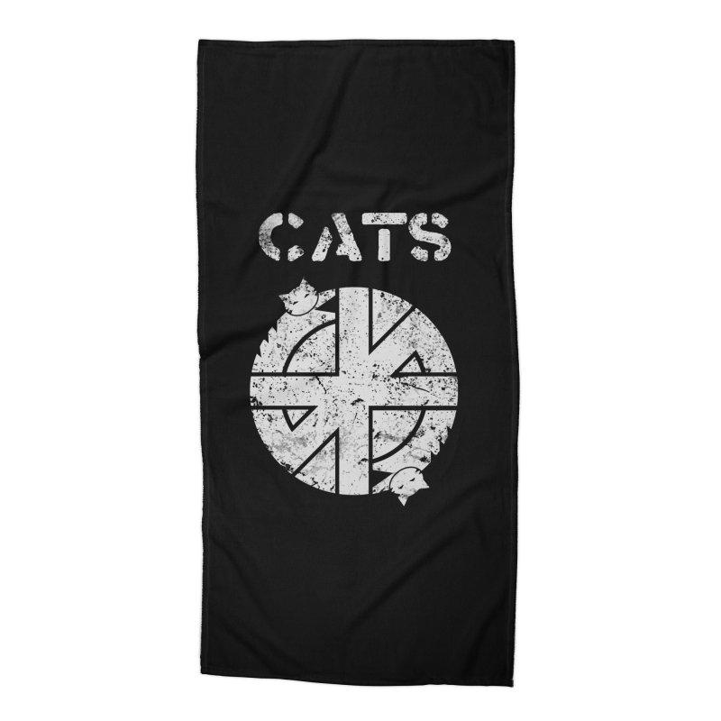 CRASS CATS Accessories Beach Towel by Niko L King's Artist Shop
