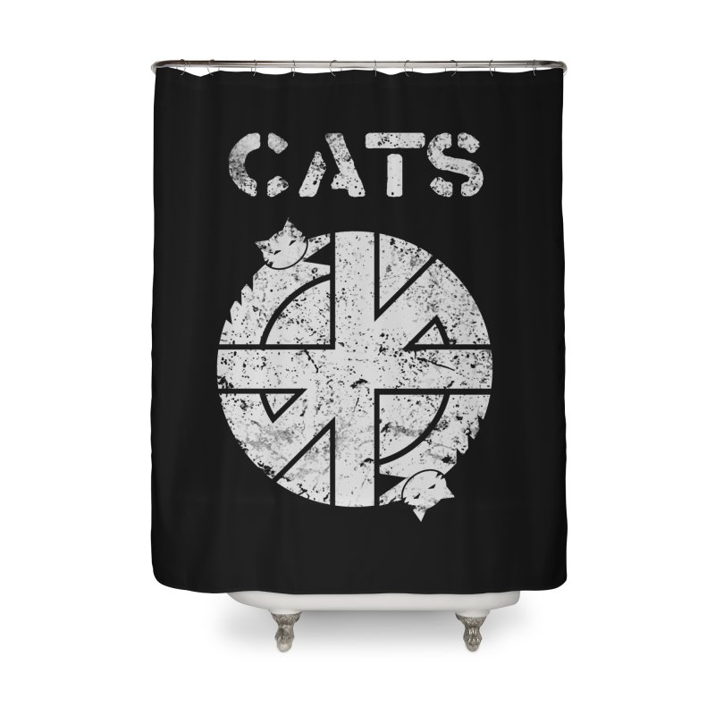 CRASS CATS Home Shower Curtain by nikolking's Artist Shop