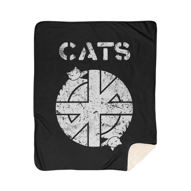 CRASS CATS Home Sherpa Blanket Blanket by Nikol King's Artist Shop