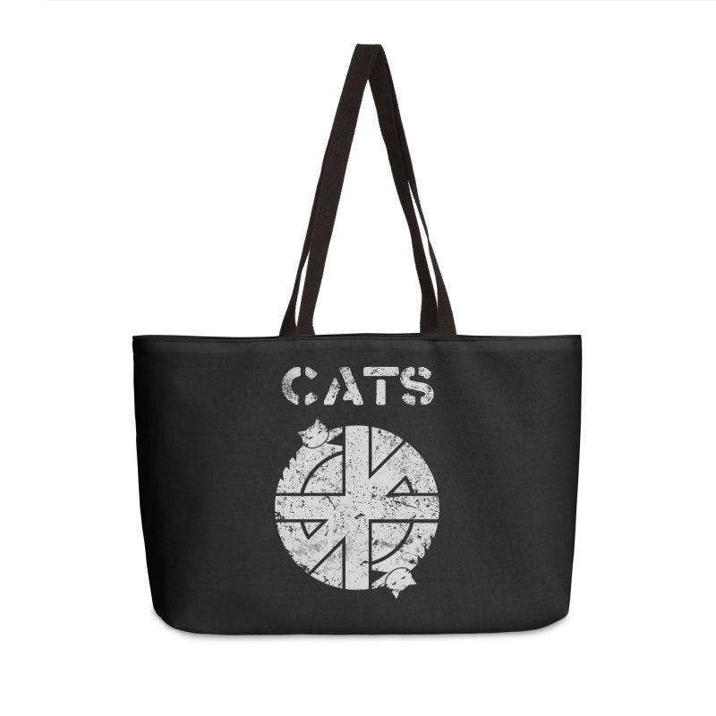 CRASS CATS Accessories Weekender Bag Bag by Nikol King's Artist Shop