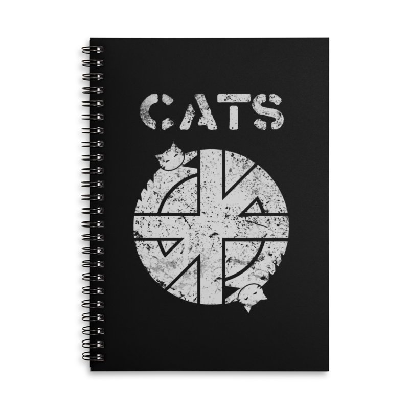CRASS CATS Accessories Lined Spiral Notebook by Nikol King's Artist Shop