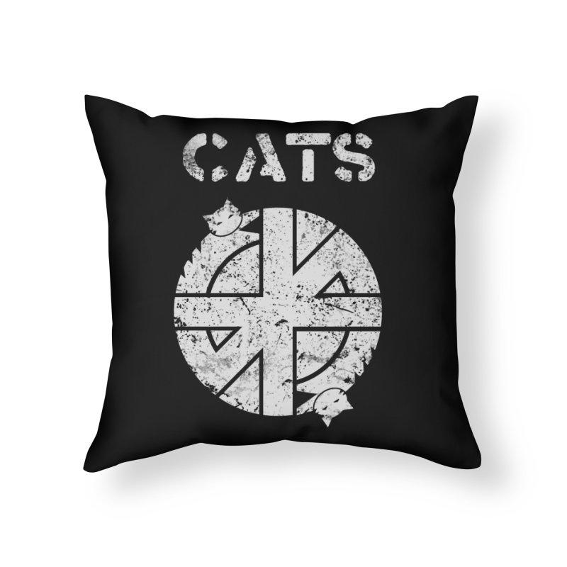 CRASS CATS Home Throw Pillow by nikolking's Artist Shop
