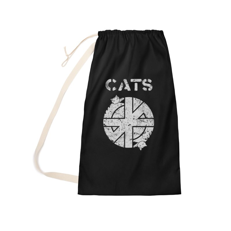 CRASS CATS Accessories Laundry Bag Bag by Nikol King's Artist Shop
