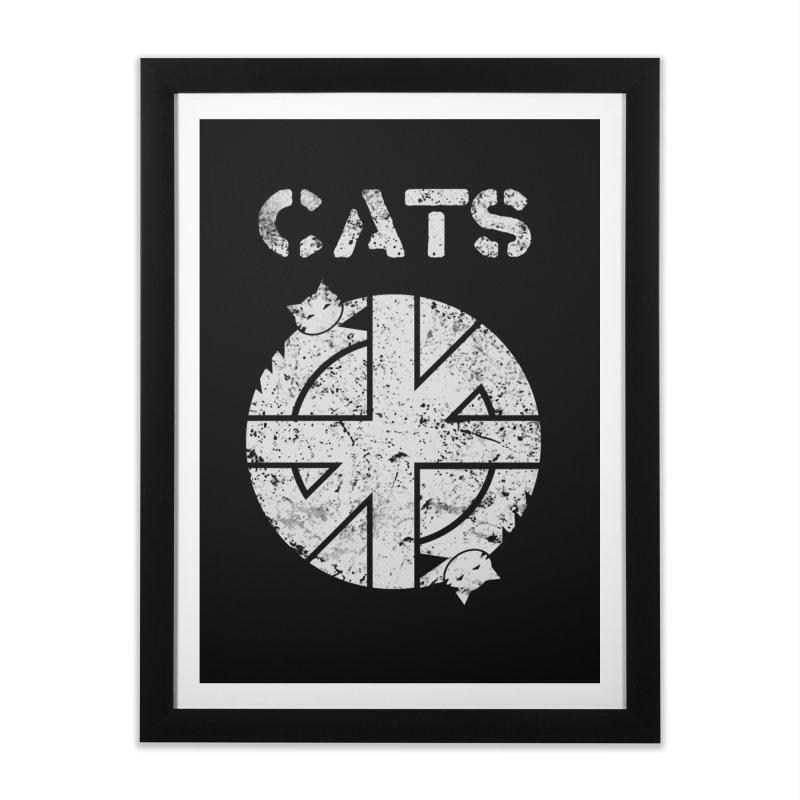CRASS CATS Home Framed Fine Art Print by Niko L King's Artist Shop