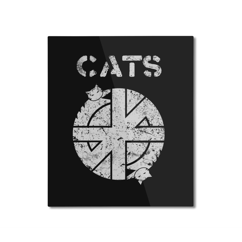 CRASS CATS Home Mounted Aluminum Print by Nikol King's Artist Shop