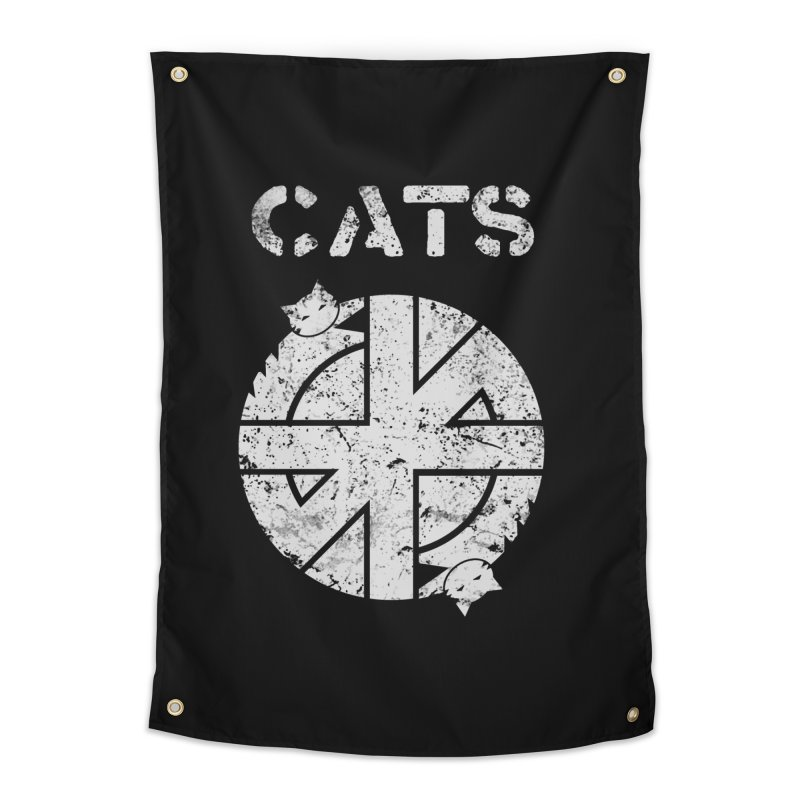 CRASS CATS Home Tapestry by Niko L King's Artist Shop