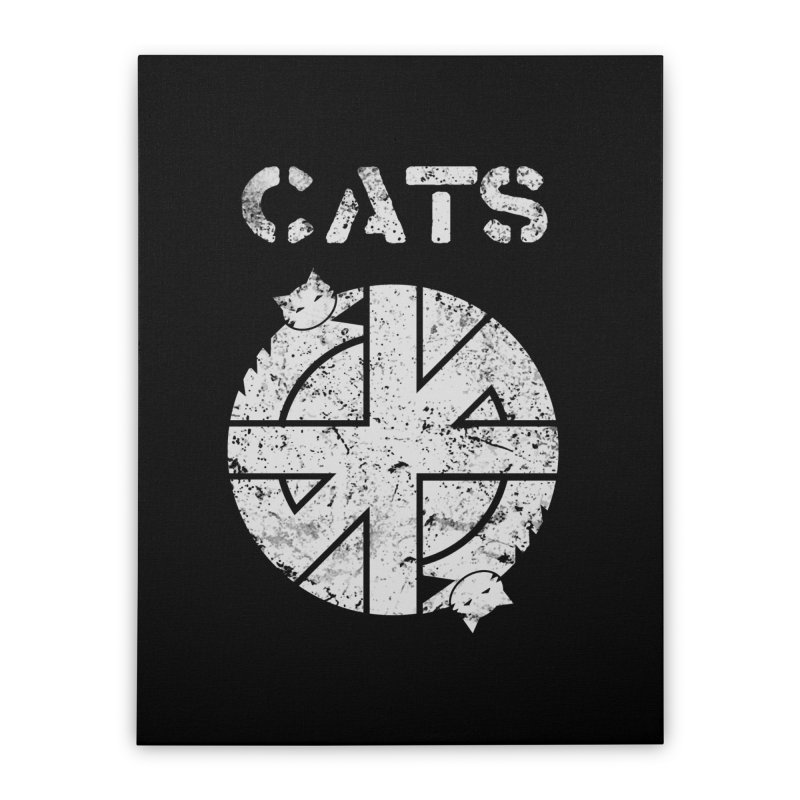 CRASS CATS Home Stretched Canvas by nikolking's Artist Shop