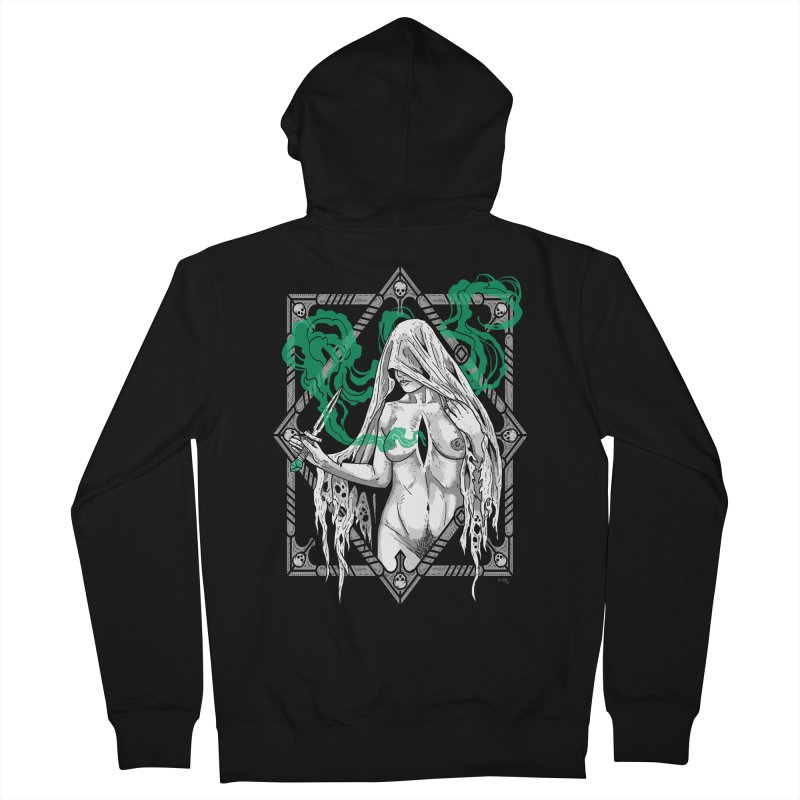 Melancholy Men's French Terry Zip-Up Hoody by Nikol King's Artist Shop