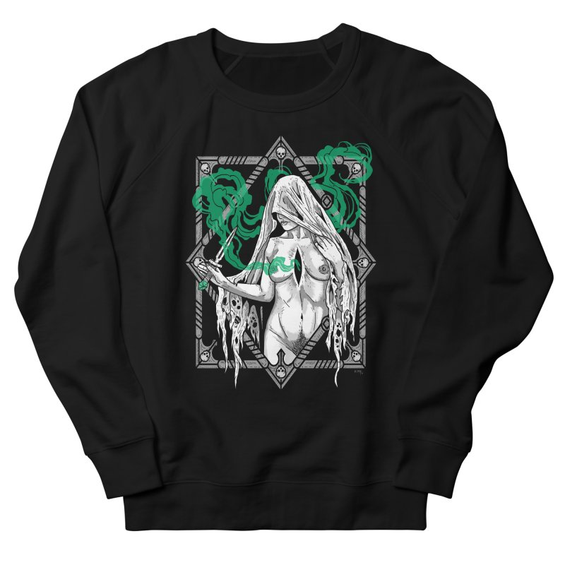 Melancholy Women's French Terry Sweatshirt by Niko L King's Artist Shop