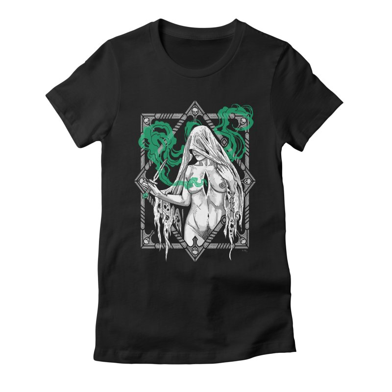 Melancholy Women's Fitted T-Shirt by nikolking's Artist Shop