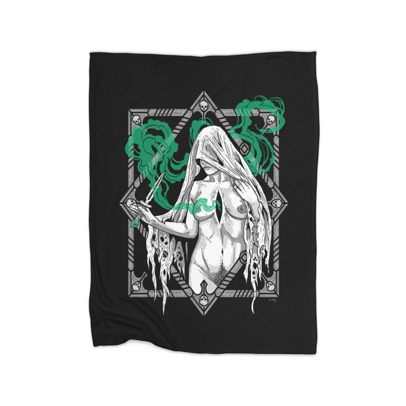 Melancholy Home Fleece Blanket Blanket by Nikol King's Artist Shop