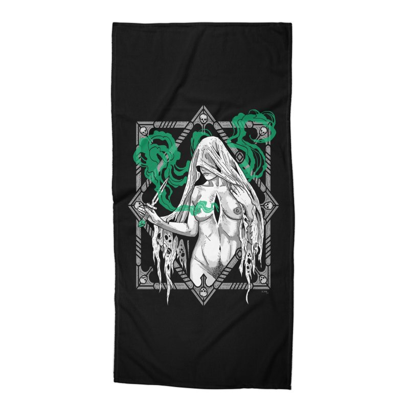 Melancholy Accessories Beach Towel by nikolking's Artist Shop