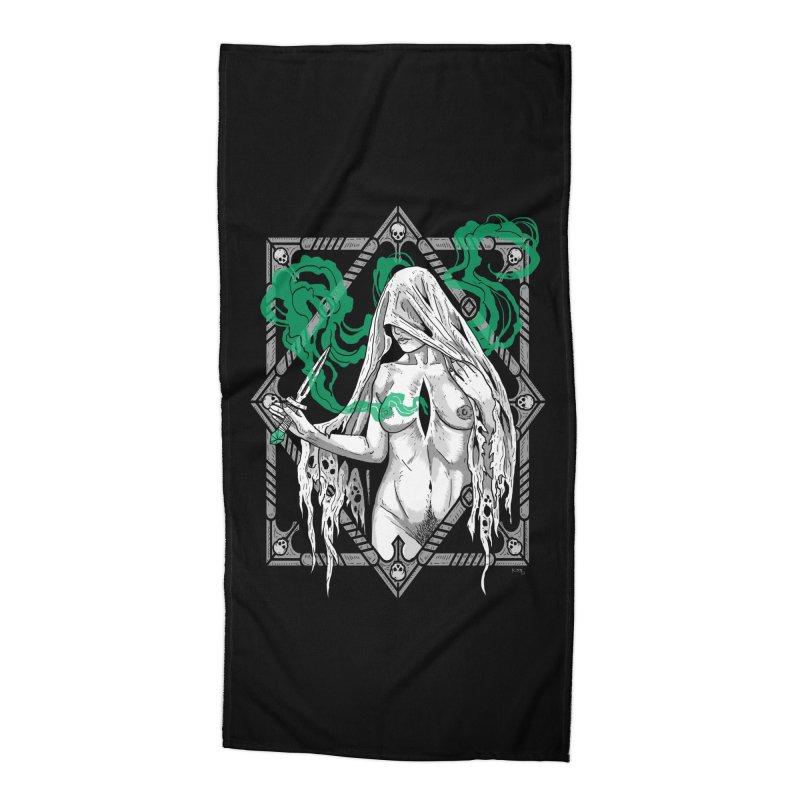 Melancholy Accessories Beach Towel by Niko L King's Artist Shop