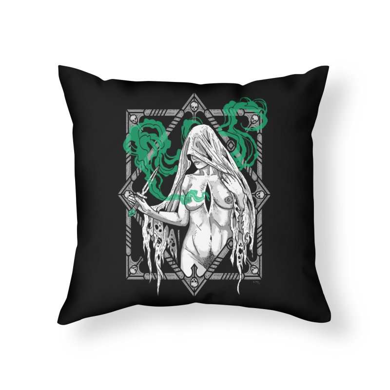 Melancholy Home Throw Pillow by nikolking's Artist Shop
