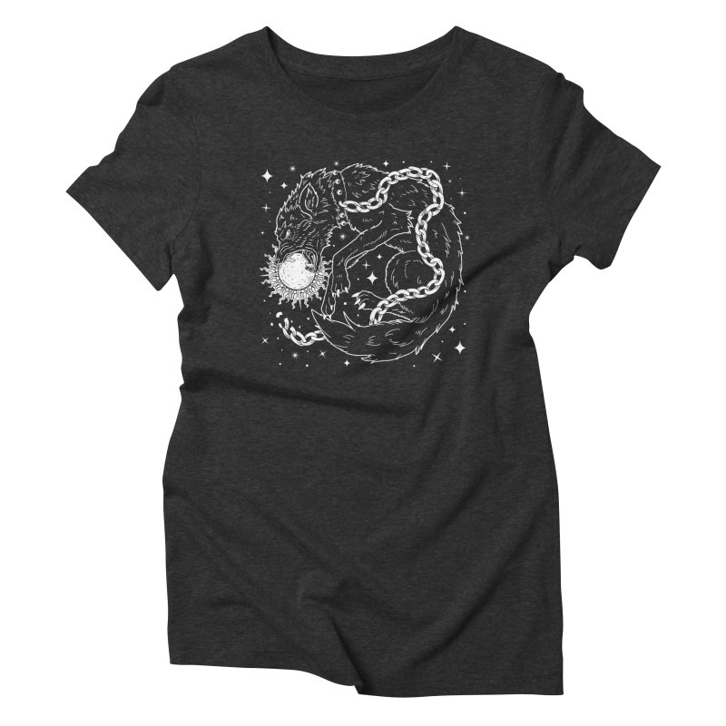 Fenrir Women's Triblend T-Shirt by Niko L King's Artist Shop