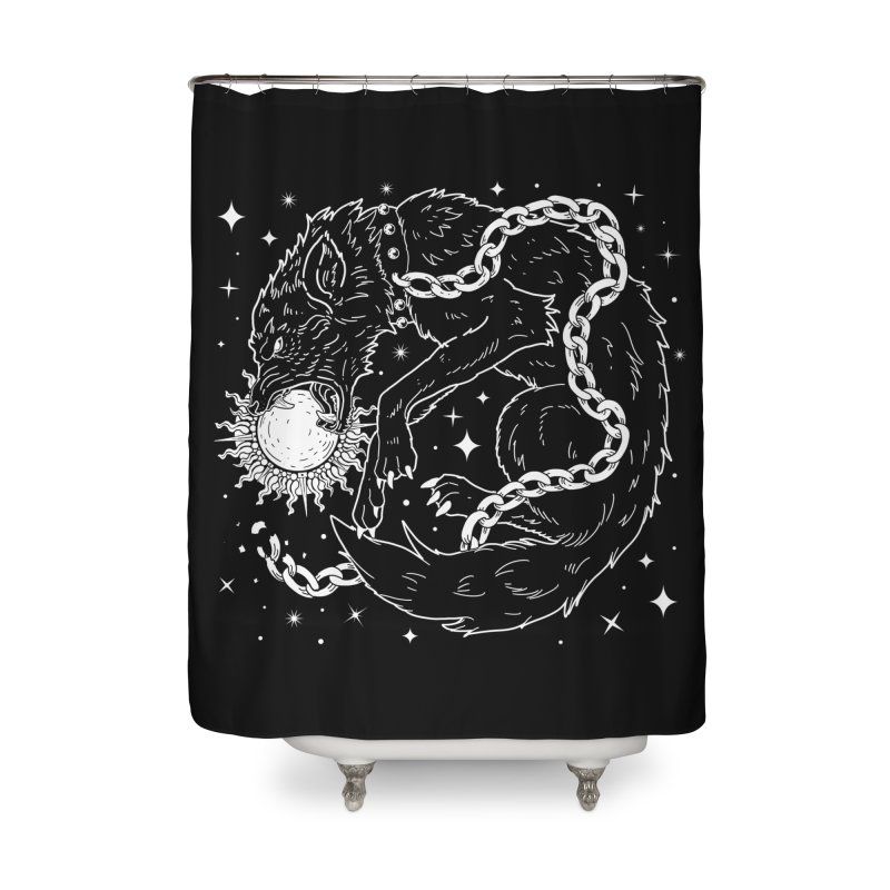 Fenrir Home Shower Curtain by nikolking's Artist Shop
