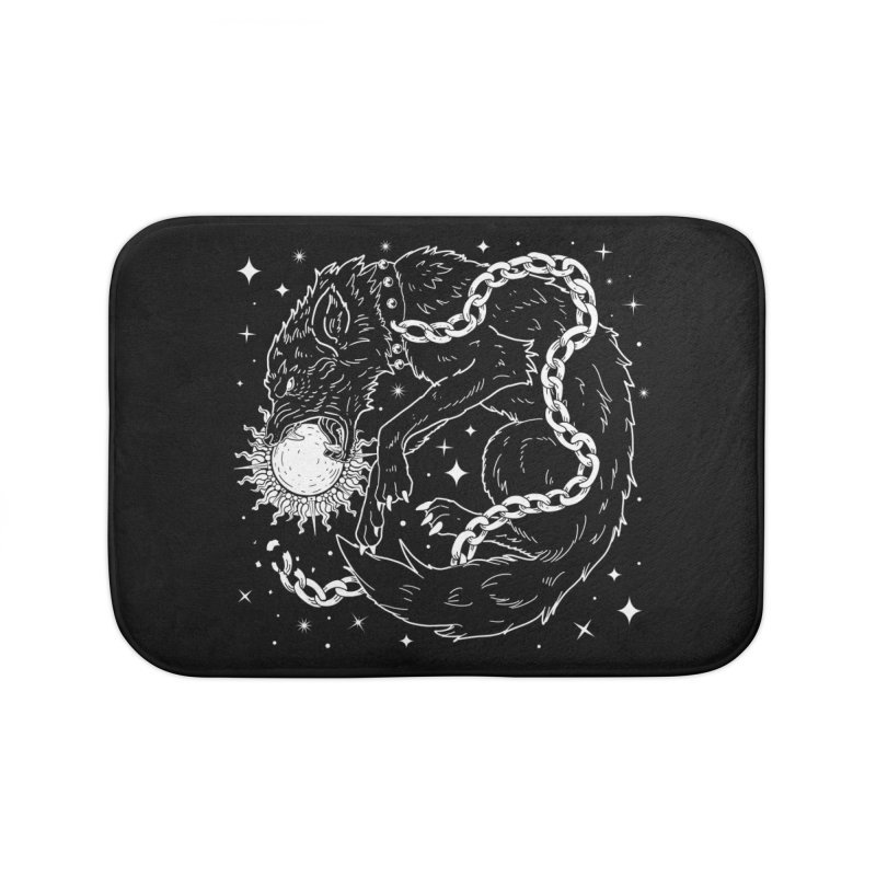 Fenrir Home Bath Mat by Nikol King's Artist Shop