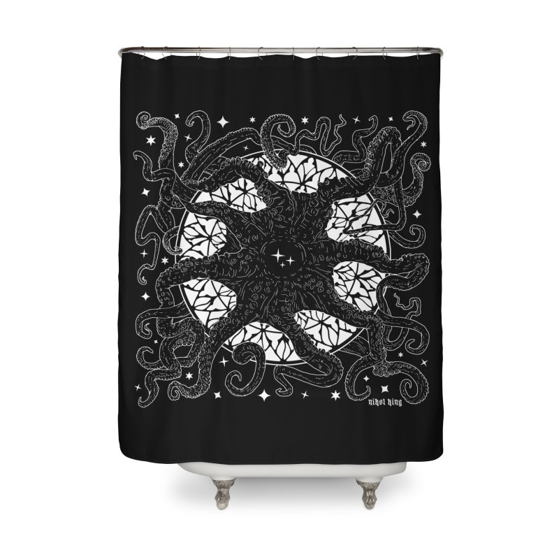 STAR SPAWN Home Shower Curtain by Nikol King's Artist Shop