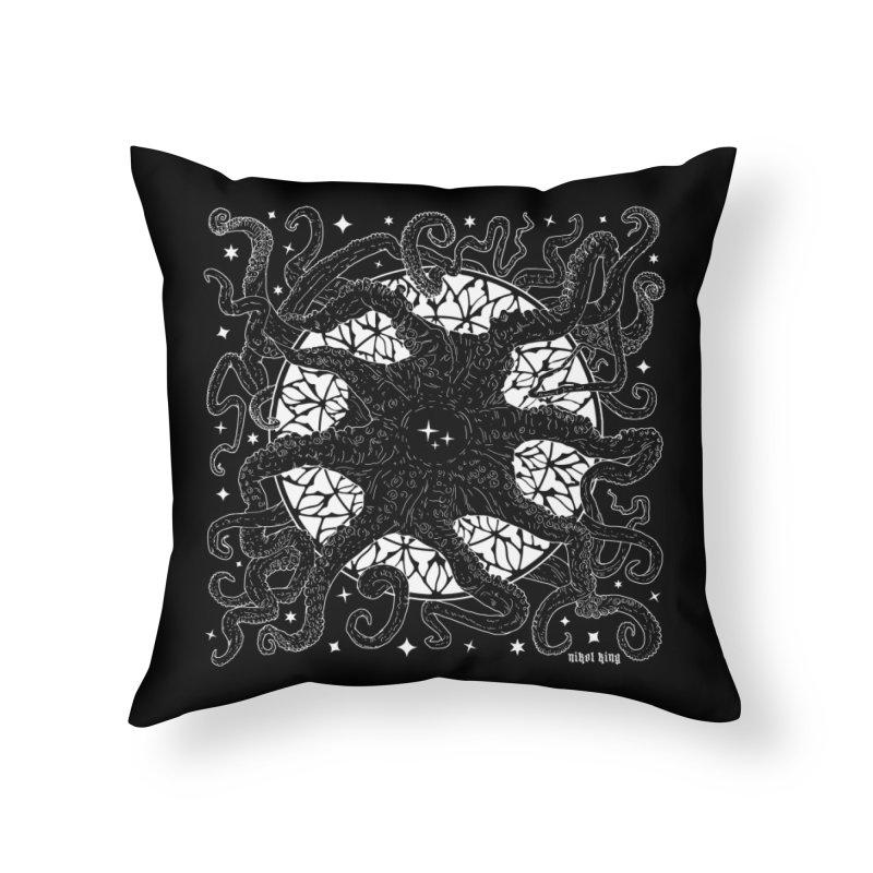 STAR SPAWN Home Throw Pillow by Nikol King's Artist Shop